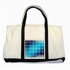 Tile Square Mail Email E Mail At Two Tone Tote Bag