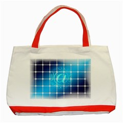 Tile Square Mail Email E Mail At Classic Tote Bag (red)