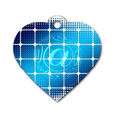 Tile Square Mail Email E Mail At Dog Tag Heart (one Side)