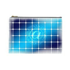 Tile Square Mail Email E Mail At Cosmetic Bag (large)