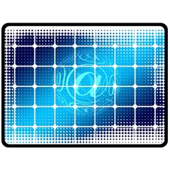 Tile Square Mail Email E Mail At Fleece Blanket (large)