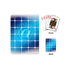 Tile Square Mail Email E Mail At Playing Cards (mini)