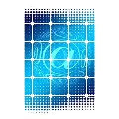 Tile Square Mail Email E Mail At Shower Curtain 48  X 72  (small)