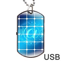 Tile Square Mail Email E Mail At Dog Tag Usb Flash (two Sides)