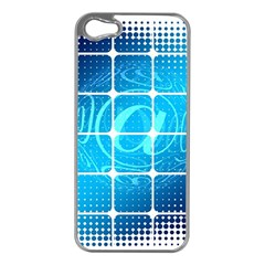 Tile Square Mail Email E Mail At Apple Iphone 5 Case (silver)