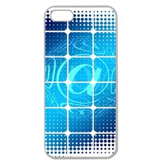 Tile Square Mail Email E Mail At Apple Seamless Iphone 5 Case (clear)