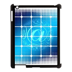 Tile Square Mail Email E Mail At Apple Ipad 3/4 Case (black)