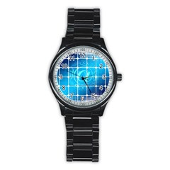 Tile Square Mail Email E Mail At Stainless Steel Round Watch