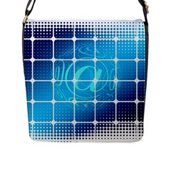 Tile Square Mail Email E Mail At Flap Messenger Bag (l)