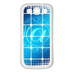 Tile Square Mail Email E Mail At Samsung Galaxy S3 Back Case (white)