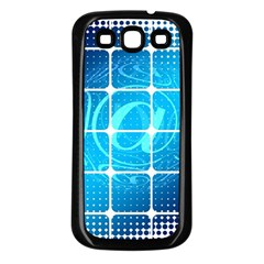 Tile Square Mail Email E Mail At Samsung Galaxy S3 Back Case (black)