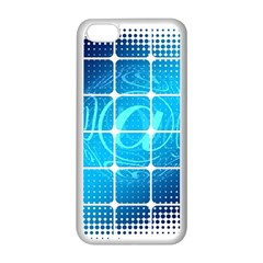 Tile Square Mail Email E Mail At Apple Iphone 5c Seamless Case (white)