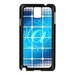 Tile Square Mail Email E Mail At Samsung Galaxy Note 3 N9005 Case (black)