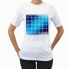Tile Square Mail Email E Mail At Women s T Shirt (white)