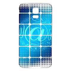 Tile Square Mail Email E Mail At Samsung Galaxy S5 Back Case (white)