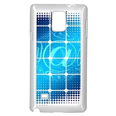 Tile Square Mail Email E Mail At Samsung Galaxy Note 4 Case (white)