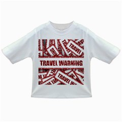 Travel Warning Shield Stamp Infant/toddler T Shirts