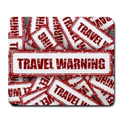 Travel Warning Shield Stamp Large Mousepads
