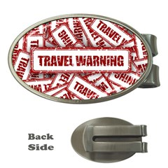 Travel Warning Shield Stamp Money Clips (oval)