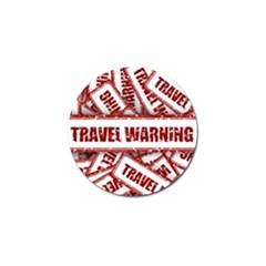 Travel Warning Shield Stamp Golf Ball Marker (4 Pack)