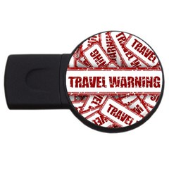 Travel Warning Shield Stamp Usb Flash Drive Round (2 Gb)