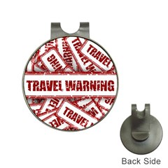 Travel Warning Shield Stamp Hat Clips With Golf Markers