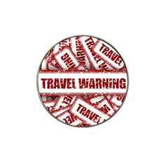 Travel Warning Shield Stamp Hat Clip Ball Marker (4 Pack)