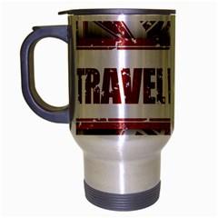 Travel Warning Shield Stamp Travel Mug (silver Gray)