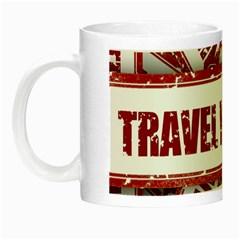 Travel Warning Shield Stamp Night Luminous Mugs