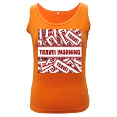 Travel Warning Shield Stamp Women s Dark Tank Top