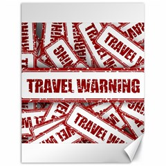 Travel Warning Shield Stamp Canvas 18  X 24