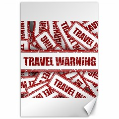 Travel Warning Shield Stamp Canvas 20  X 30