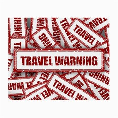 Travel Warning Shield Stamp Small Glasses Cloth (2 Side)