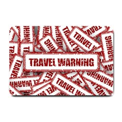 Travel Warning Shield Stamp Small Doormat