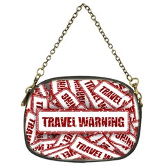 Travel Warning Shield Stamp Chain Purses (one Side)