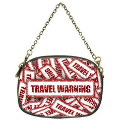 Travel Warning Shield Stamp Chain Purses (two Sides)