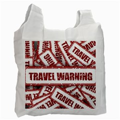 Travel Warning Shield Stamp Recycle Bag (two Side)