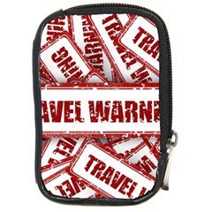 Travel Warning Shield Stamp Compact Camera Cases