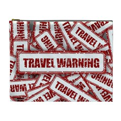 Travel Warning Shield Stamp Cosmetic Bag (xl)