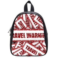 Travel Warning Shield Stamp School Bag (small)
