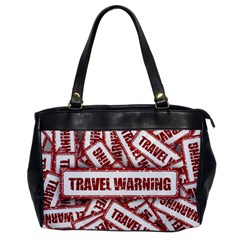 Travel Warning Shield Stamp Office Handbags