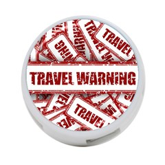 Travel Warning Shield Stamp 4 Port Usb Hub (two Sides)