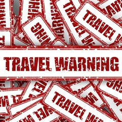 Travel Warning Shield Stamp Magic Photo Cubes