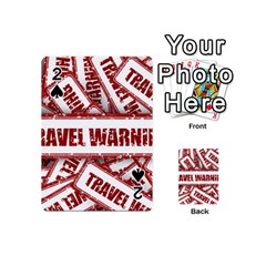 Travel Warning Shield Stamp Playing Cards 54 (mini)