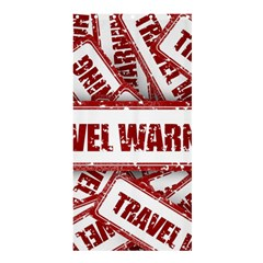 Travel Warning Shield Stamp Shower Curtain 36  X 72  (stall)
