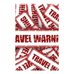 Travel Warning Shield Stamp Shower Curtain 48  X 72  (small)