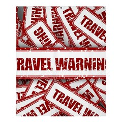 Travel Warning Shield Stamp Shower Curtain 60  X 72  (medium)