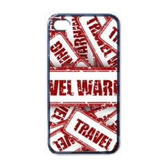 Travel Warning Shield Stamp Apple Iphone 4 Case (black)