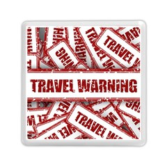 Travel Warning Shield Stamp Memory Card Reader (square)