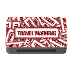 Travel Warning Shield Stamp Memory Card Reader With Cf